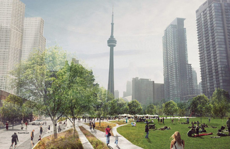 A Billion Dollar Park for New Condo Residents in Downtown Toronto