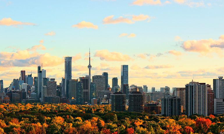Toronto Skyline During Fall
