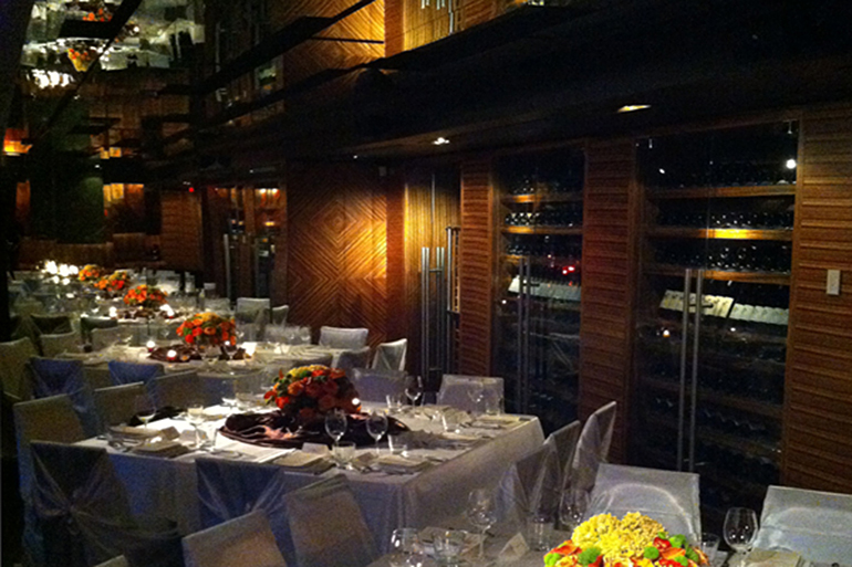 A beautifully decorated luxury restaurant