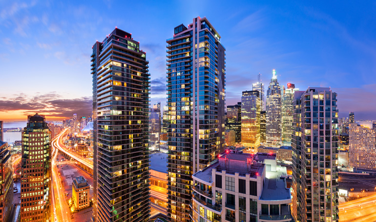 Downtown Toronto Vibrant City Skyline