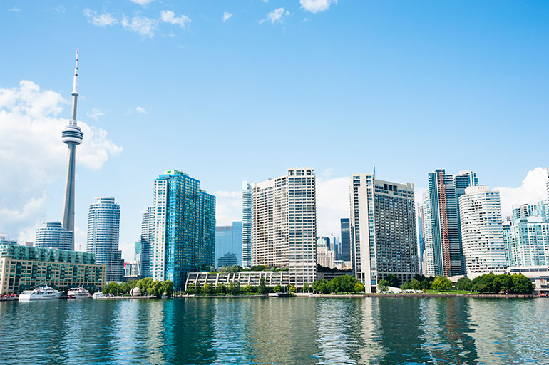 Toronto Waterfront Condo Skyline near CN Tower